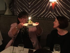 Celebrating the always-fabulous Celeste's birthday in Boston