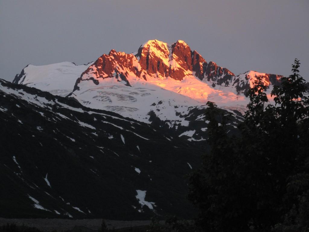 Alpenglow, Walker Glacier