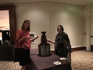 Did someone say chocolate fountain at the Presidential reception?  I'm there!